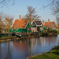 Zaanse Schans in de winter